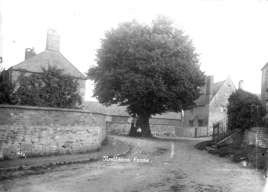 A village street and houses in Stretton on Fosse.  1900s |  IMAGE LOCATION: (Warwickshire County Record Office)