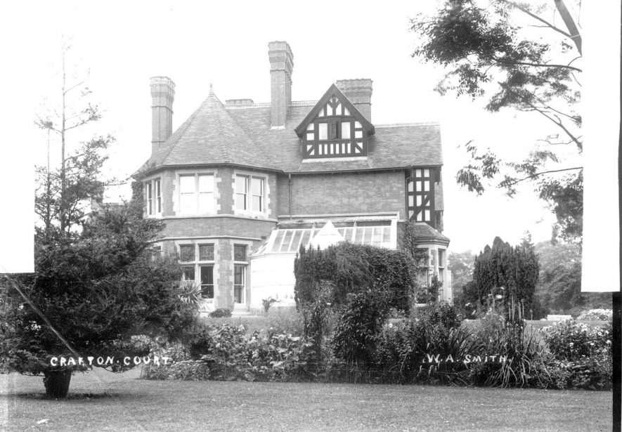 Grafton Court, Temple Grafton.  1900s [The Court is actually on the site of an older stately moated house that was burnt down. Signs of the moat in the gardens can still be seen. When the new Court was built the owners had the bell tower removed from the neighbouring Court Farm as it spoiled the views from the Court. The bell is now situated on the west side of the old servants quarters of Court Farm.] |  IMAGE LOCATION: (Warwickshire County Record Office)