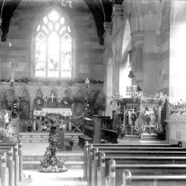 Temple Grafton.  St Andrew's Church, interior