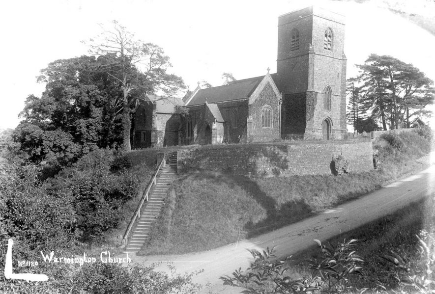 St Michael's Church, Warmington.  1900s [At the time of this photograph the church was dedicated to St Nicholas] |  IMAGE LOCATION: (Warwickshire County Record Office)