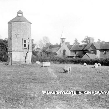 Wasperton.  Dovecote and church