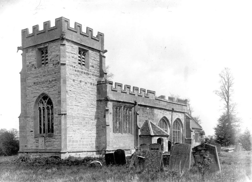 The church at Weston on Avon.  1900s |  IMAGE LOCATION: (Warwickshire County Record Office)