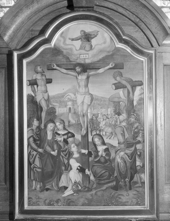 Altar centre piece in Ashow church.  1952 |  IMAGE LOCATION: (Warwickshire County Record Office)