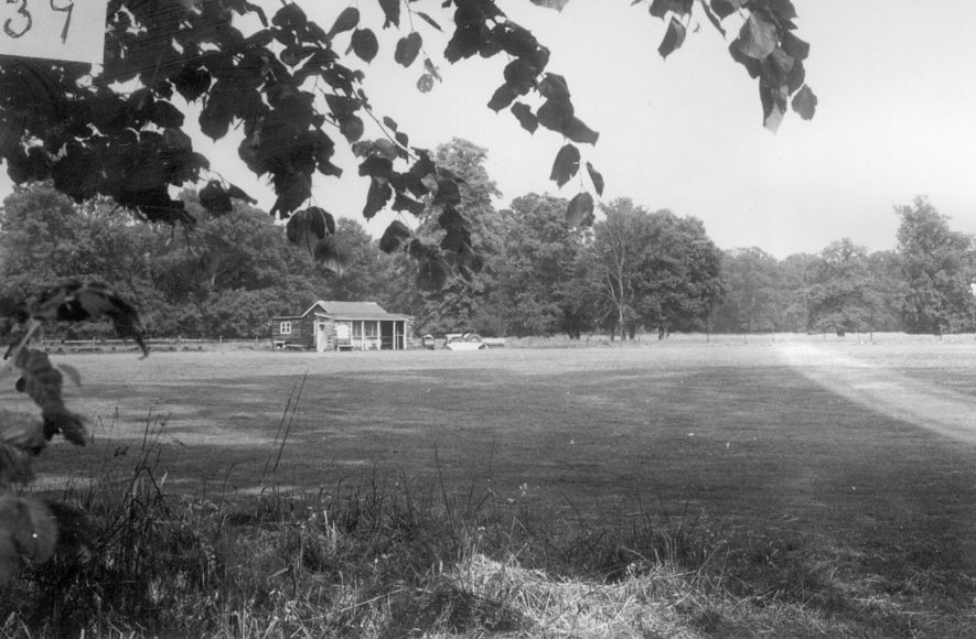 Alveston cricket ground, which was owned by J.B. Priestly.  1967 |  IMAGE LOCATION: (Warwickshire County Record Office)