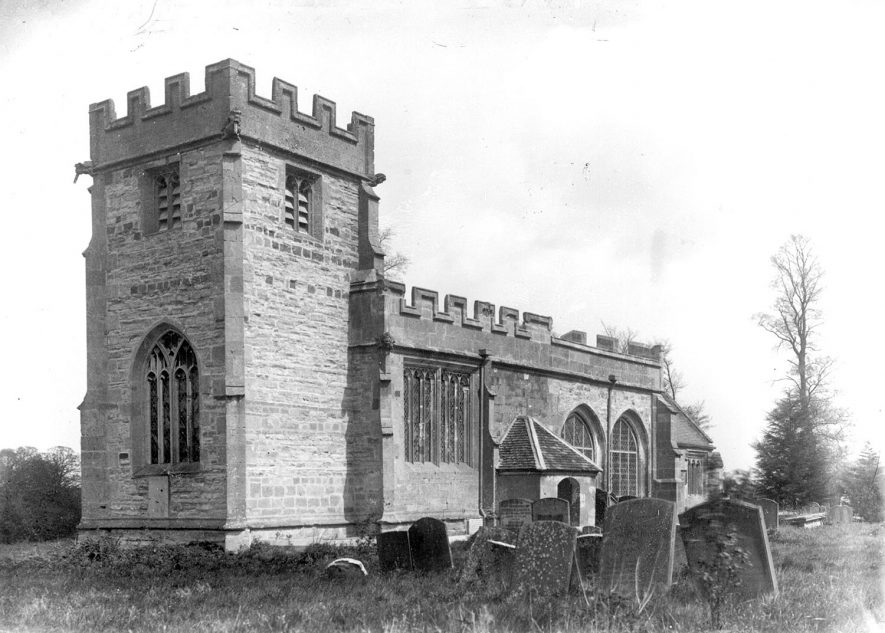 Parish Church at Weston on Avon.  1930s |  IMAGE LOCATION: (Warwickshire County Record Office)