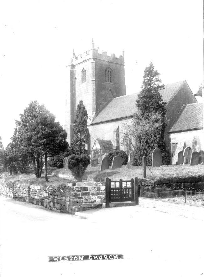Parish Church at Weston under Wetherley.  1930s |  IMAGE LOCATION: (Warwickshire County Record Office)