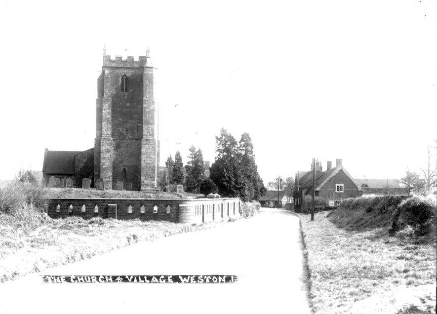 Parish Church at Weston under Wetherley.  1930s |  IMAGE LOCATION: (Warwickshire County Record Office)