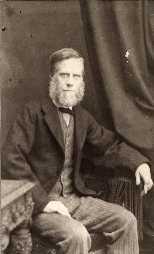 Ebenezer Collins was in business, as a hairdresser, in Sheep Street until 1866 and then at 40 High Street from 1867-1893, Rugby.  1870s    IMAGE LOCATION: (Rugby Library) PEOPLE IN PHOTO: Collins, Ebenezer, Collins as a surname