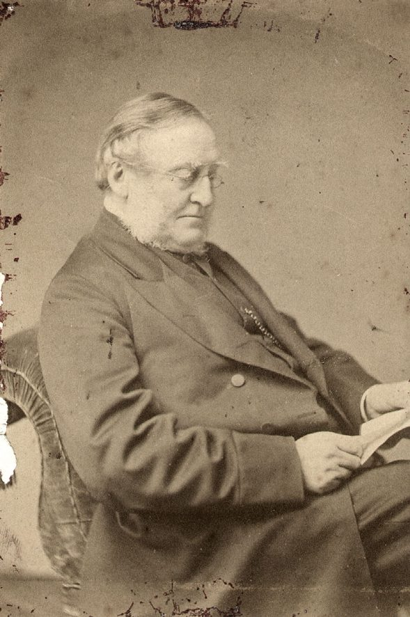 The Reverend Canon Dixon entered the living of St Matthew's Church, Rugby, on January 6th 1866, and was a much loved clergyman.  He died 8th January 1892 at the age of 86.  1880s |  IMAGE LOCATION: (Rugby Library) PEOPLE IN PHOTO: Dixon, Revd Canon R, Dixon as asurname