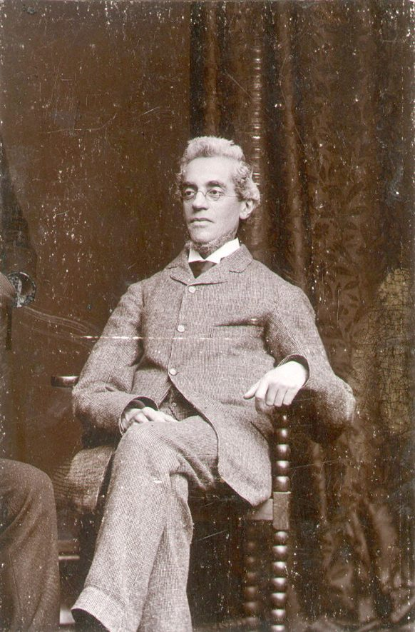 Edwin Edwards, organist at Rugby School, who lived in Rugby 1867-1907.  1890s |  IMAGE LOCATION: (Rugby Library) PEOPLE IN PHOTO: Edwards, Edwin, Edwards as a surname