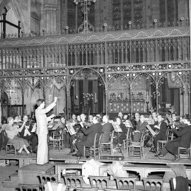 Leamington Spa.  All Saint's Church, symphony orchestra