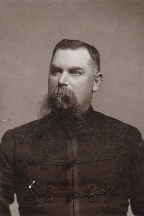 Caleb Hall, Superintendent of Rugby Police, 1890-1893, who died in 1931 aged 78.  1890s |  IMAGE LOCATION: (Rugby Library) PEOPLE IN PHOTO: Hall, Caleb, Hall as a surname