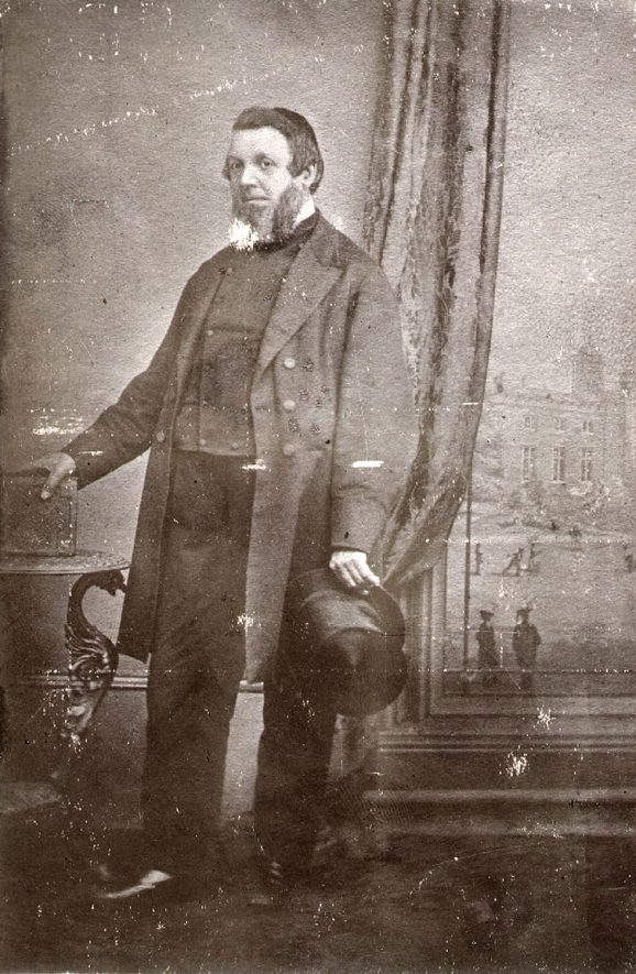 Luke Jeayes, Master of Elborrow School, Rugby 1844-1852,  then Parish Clerk until his death in 1881.  1850s |  IMAGE LOCATION: (Rugby Library) PEOPLE IN PHOTO: Jeayes as a surname, Jeayes,  Luke