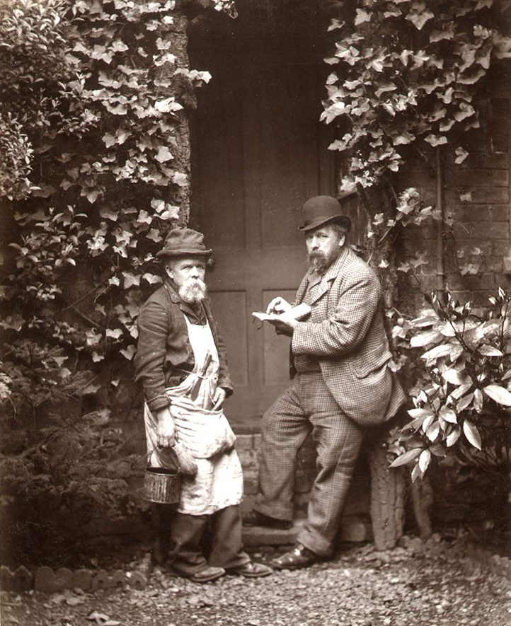 Arthur Law and his man Price. Mr Law was in business in Rugby as a painter and decorator from 1876 until 1904.  1890s |  IMAGE LOCATION: (Rugby Library) PEOPLE IN PHOTO: Price, Mr, Price as a surname, Law, Arthur, Law as a surname