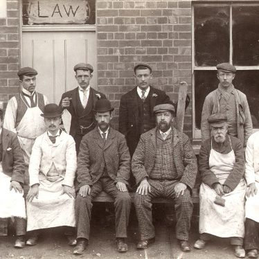 Rugby.  Arthur Law and his workmen