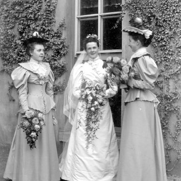 Rugby.  Mrs J.J. McKinnell with her Bridesmaids