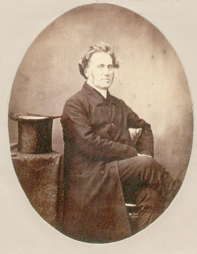 Portrait of John Moultrie who was born on December 31st 1799. He was Rector of Rugby from 1825 to 1874. During his incumbency Holy Trinity Church was built (consecrated 1874) and he wrote a long poem relating to the building of the church, called