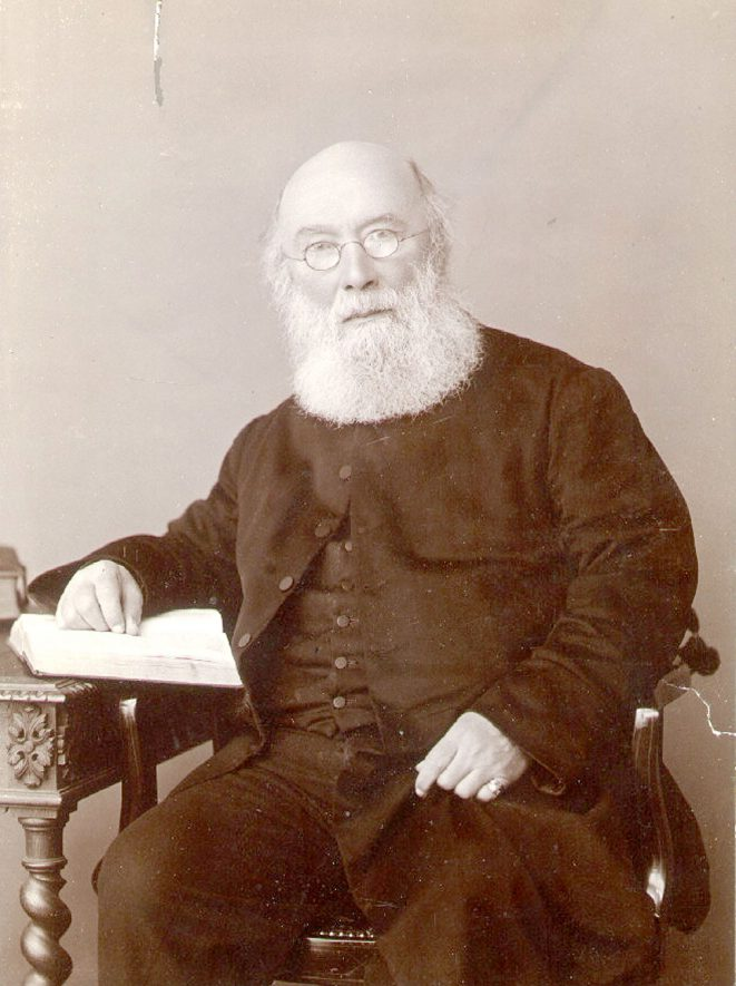 Portrait of the Rev. John Murray, Rector of Saint Andrew's church, Rugby from 1875-1898.  1890s |  IMAGE LOCATION: (Rugby Library) PEOPLE IN PHOTO: Murray, Revd John