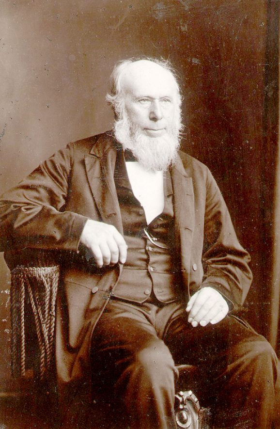 Gregory Perkins, in business as builder and cabinet maker in Lawford Road, Rugby c1860 - 1890.  1880s    IMAGE LOCATION: (Rugby Library) PEOPLE IN PHOTO: Perkins, Gregory, Perkins as a surname