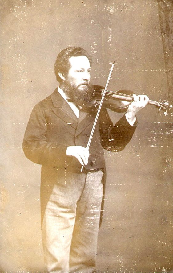 Herr Petterson came to Rugby School as violin master 1867.  When Rugby Philharmonic Society was formed in 1868, he acted as leader until he left the town in 1895.  Frequent performer at local concerts.  Died 1898.  1880s |  IMAGE LOCATION: (Rugby Library) PEOPLE IN PHOTO: Petterson, Herr, Petterson as a surname