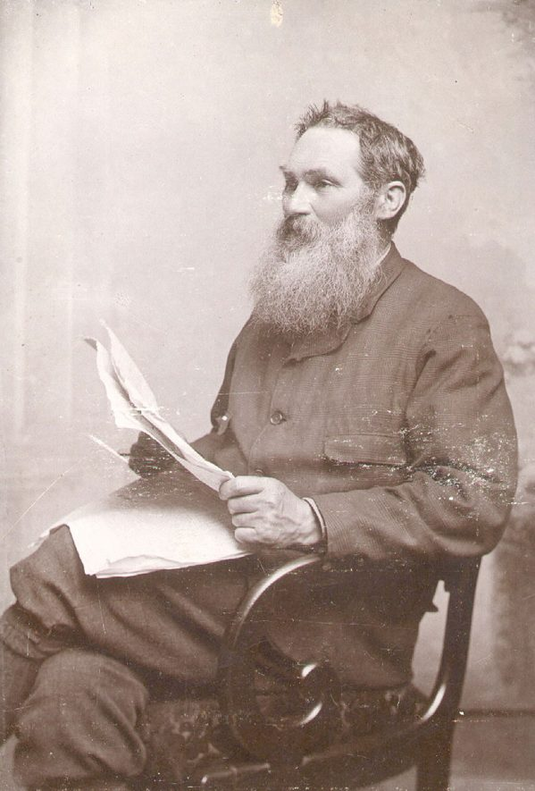 Mr Edward Hall Speight, school teacher and photographer, 1835-1919.  Appointed head master of Wesleyan School, Rugby, 1861. Took up photography as a hobby, retired to set up photography business in Dunchurch Road, 1871.  1890s |  IMAGE LOCATION: (Rugby Library)