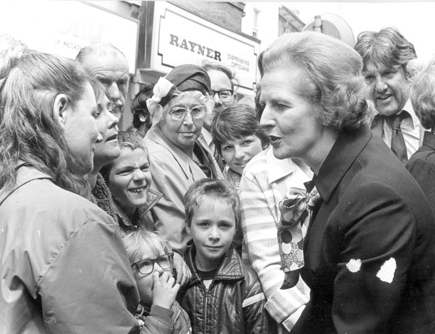 Mrs Margaret Thatcher on a visit to Rugby.  1980 |  IMAGE LOCATION: (Rugby Library)