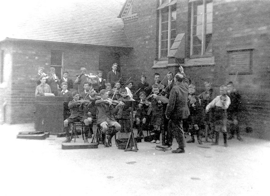 A school orchestra in Rugby.  1900s |  IMAGE LOCATION: (Rugby Library)