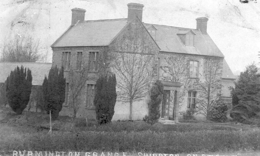 Burmington Grange, house and garden.  1910s |  IMAGE LOCATION: (Warwickshire County Record Office)