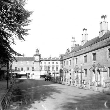 Rugby.  Market Place and Church Street