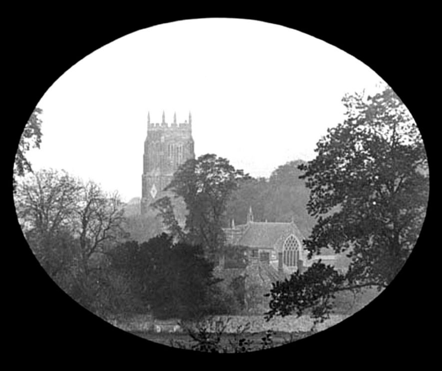 St George's Church taken from Park Lane, Lower Brailes.  1900s |  IMAGE LOCATION: (Warwickshire Museums. Photographic Collections.)