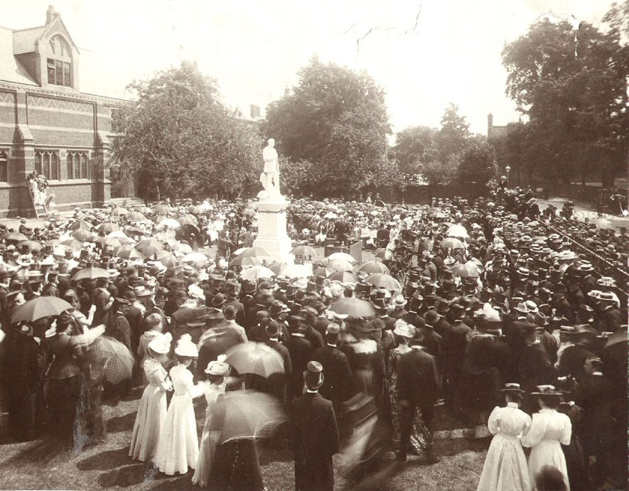 The Archbishop of Canterbury, the Most Hon. and Very Rev. Frederick Temple unveiling the Thomas Hughes statue on June 24th 1899.