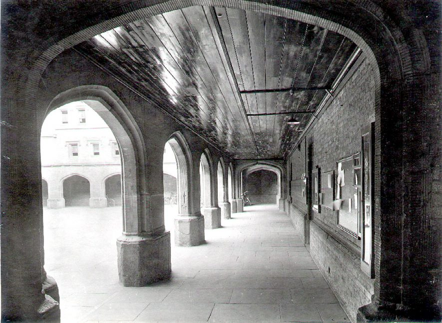 Rugby School cloisters.  1920s |  IMAGE LOCATION: (Rugby Library)
