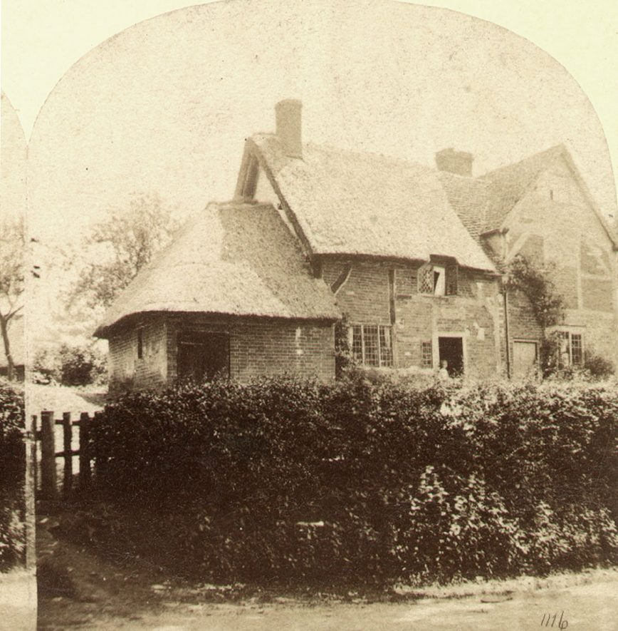 The cottage where Lawrence Sheriff, founder of Rugby School was born in Brownsover. 1890s[The birthplace is disputed but more likely to have been in Rugby]    IMAGE LOCATION: (Rugby Library)