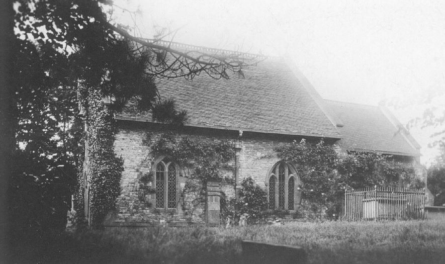 Brownsover church from the north.  1910s |  IMAGE LOCATION: (Warwickshire County Record Office)