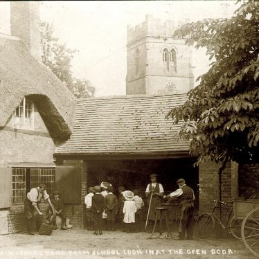 Dunchurch.  Blacksmith's smithy