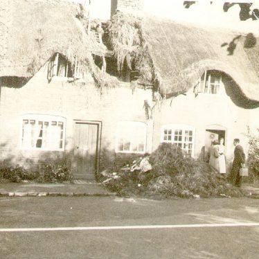 Dunchurch.  Bomb damage
