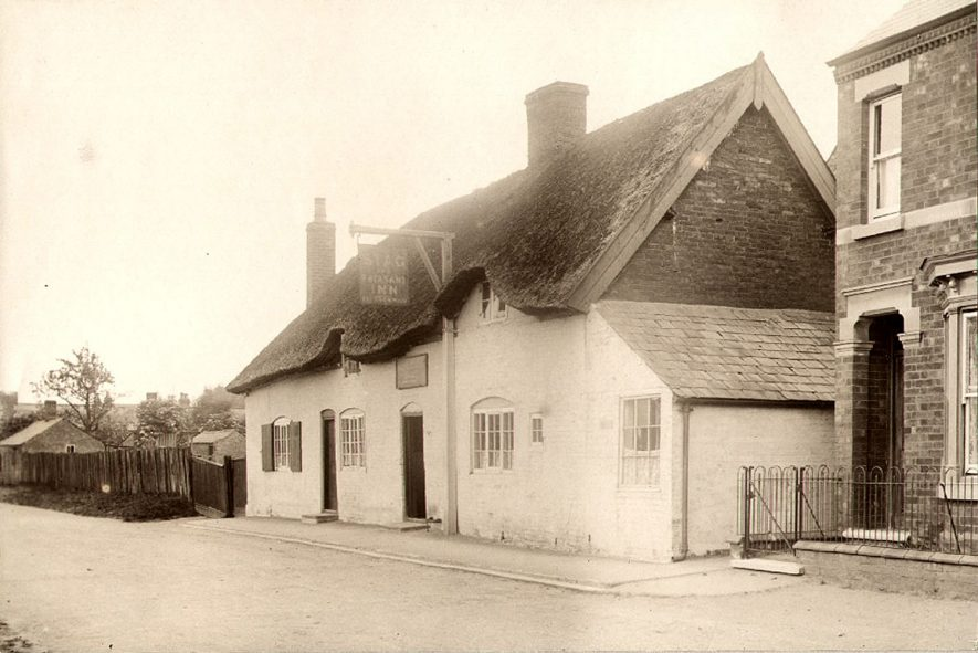 Exterior of The Stag and Pheasant Inn, Newton.  1920s |  IMAGE LOCATION: (Rugby Library)