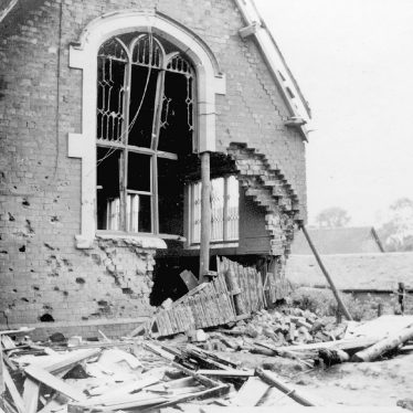 Pailton.  Bomb damage to the school
