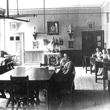 Princethorpe.  Interior of school