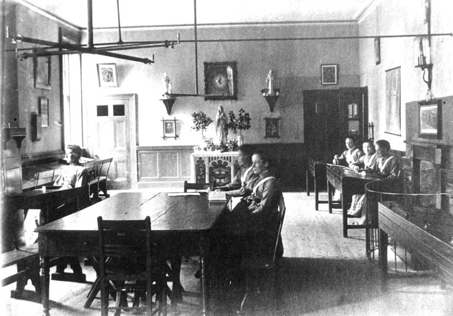 Interior of one of the classrooms at Princethorpe School (now College).  1894 |  IMAGE LOCATION: (Rugby Library)