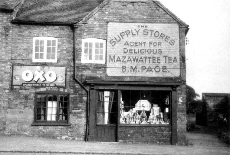 The Supply Stores, Warwick Road, Wolston. The shop was owned by B.M. Page from approx. 1907 to 1940.  1930s |  IMAGE LOCATION: (Rugby Library)