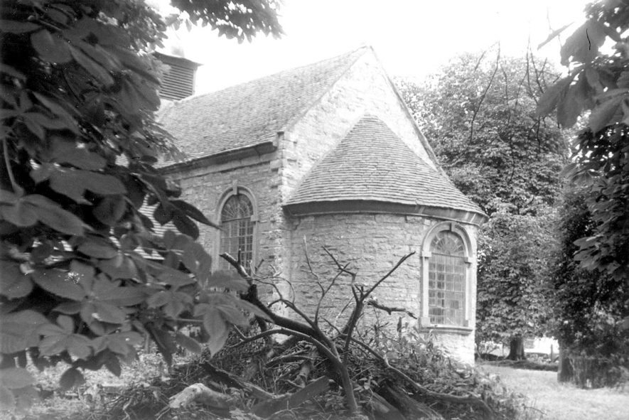 The apse of All Saint's church, Billesley.  1980s |  IMAGE LOCATION: (Warwickshire Museums. Photographic Collections.)