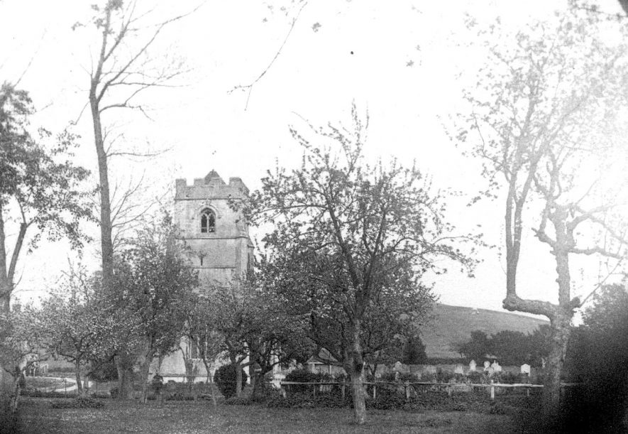 Exterior of St Nicholas church, Beaudesert.  1888 |  IMAGE LOCATION: (Warwickshire Museums. Photographic Collections.)