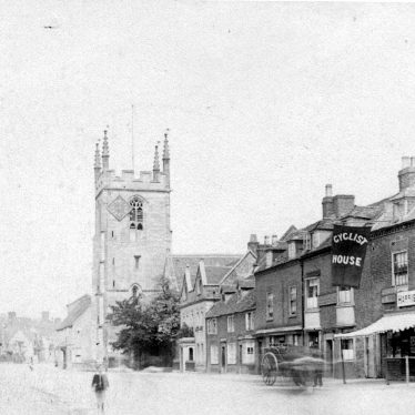 Henley in Arden.  High Street and church