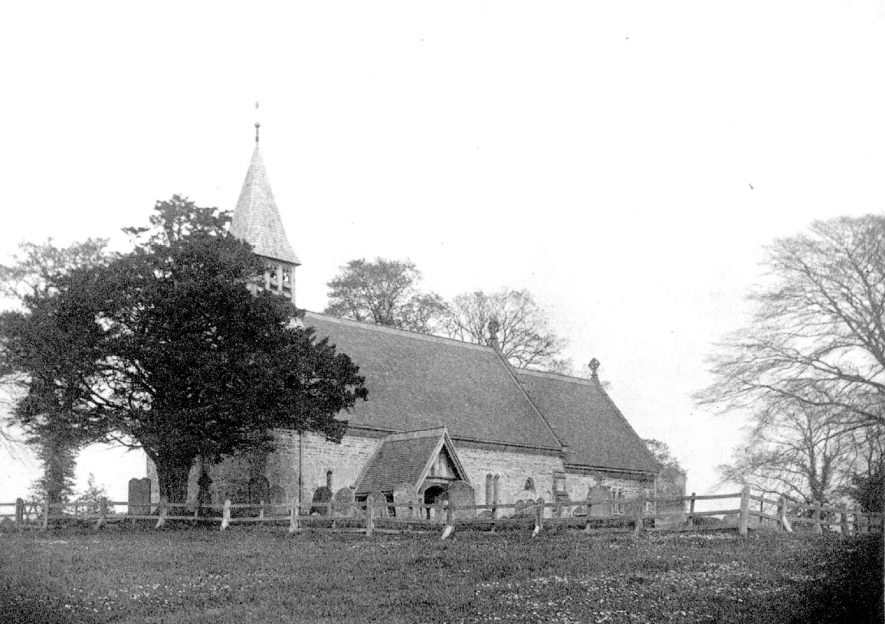 Exterior of All Saint's church, Preston Bagot.  1888 |  IMAGE LOCATION: (Warwickshire Museums. Photographic Collections.)