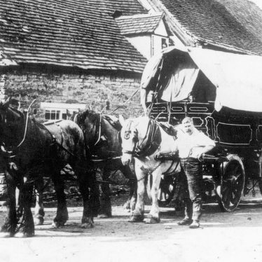 Alcester.  Delivering flour by horse and wagon