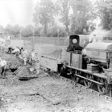 Wilmcote.  Building the Railway
