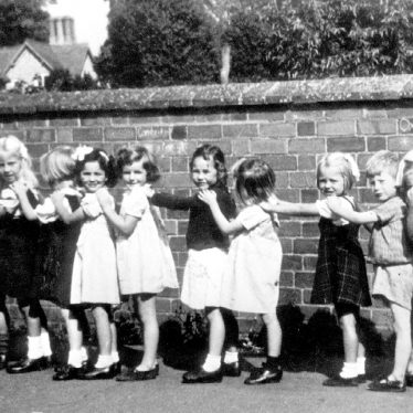 Preston on Stour.  Infants in school yard
