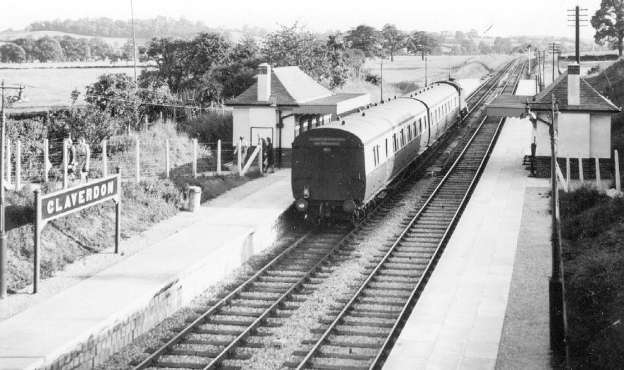 Claverdon, new railway station, on 13 July 1939. |  IMAGE LOCATION: (Warwickshire County Record Office)