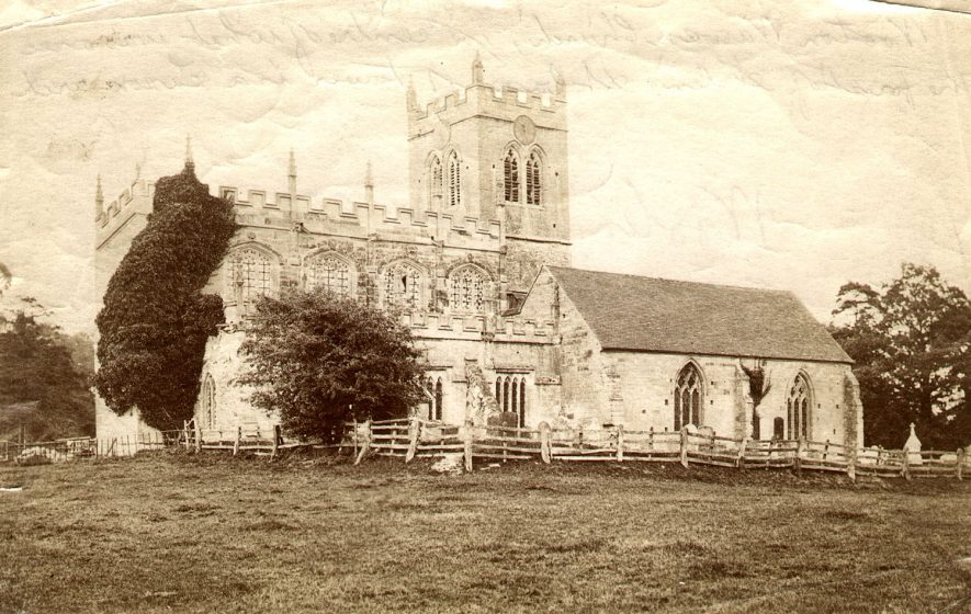 Wootton Wawen parish church exterior.  1892 |  IMAGE LOCATION: (Warwickshire Museums. Photographic Collections.)